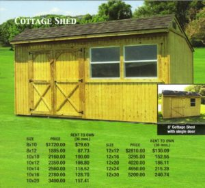 storage shed and office space